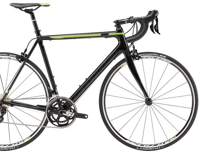 cannondale supersix evo 5 105 2016 black with green
